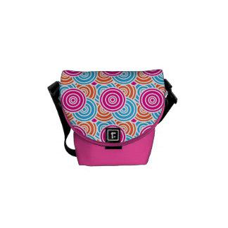 Bright Fun Layered Concentric Circles Pattern Gift Messenger Bag