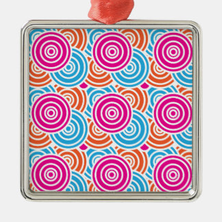 Bright Fun Layered Concentric Circles Pattern Gift Metal Ornament