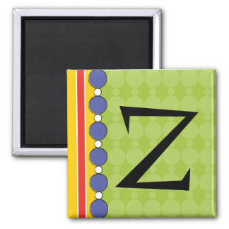 Bright Fun Polka Dot Monogram Magnet