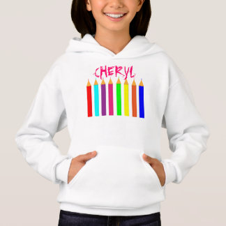 Bright Fun Rainbow Coloring Pencils Personalized Hoodie