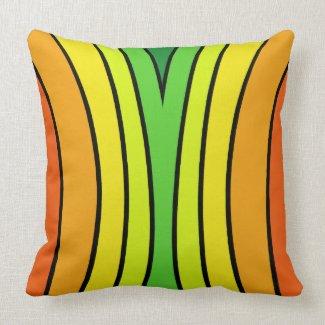 Bright Fun Rainbow Colors Pop Art CricketDiane Throw Pillow