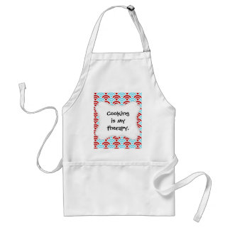 Bright Fun Teal Turquoise Red Arch Rainbows Gifts Adult Apron