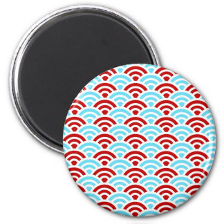Bright Fun Teal Turquoise Red Arch Rainbows Gifts 2 Inch Round Magnet