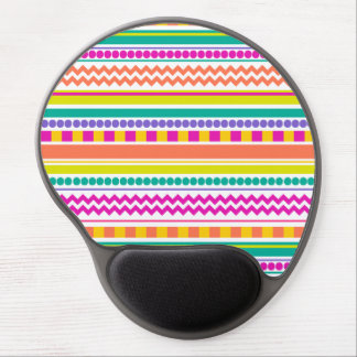 Bright, Funky & Colorful Striped Pattern Design Gel Mouse Pad