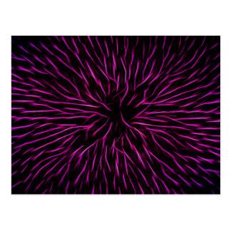 Bright Funky Hot Pink Firecracker Abstract Postcard