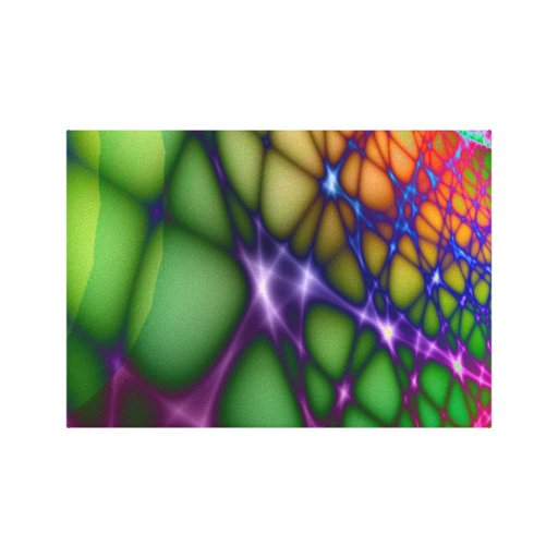 Bright funky wall art wrapped canvas canvas print zazzle for Funky wall art