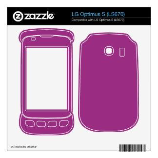 Bright Fuschia Purple Color Decal For LG Optimus S