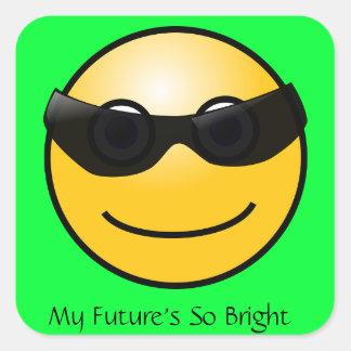 Bright Future Funny Sun in Sunglasses Sticker
