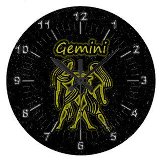 Bright Gemini Large Clock