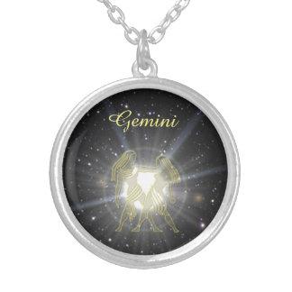 Bright Gemini Silver Plated Necklace