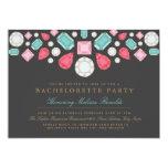 """Bright Gems Bachelorette Party Invite 5"""" X 7"""" Invitation Card"""