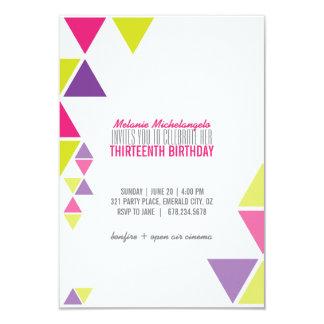 bright GEOMETRIC birthday invitation