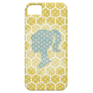 bright geometric design with shabby silhouette iPhone 5 cover