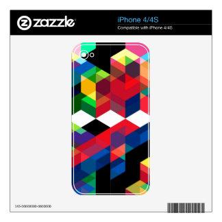 Bright Geometric Diamond Pattern Skin For The iPhone 4