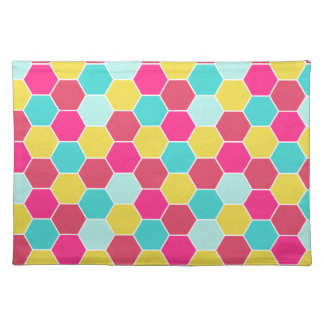 Bright Geometric Hexagon Pattern Placemat