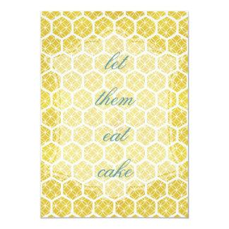 bright geometric honeycomb design card