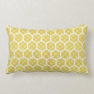 bright geometric honeycomb pillow