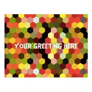 Bright Geometric Patterned Postcard Any Message