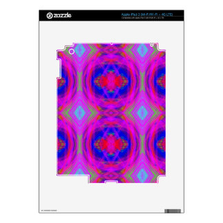 Bright Girly Chic Neon Tribal Pattern Decal For iPad 3