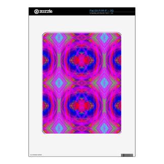 Bright Girly Chic Neon Tribal Pattern iPad Skin