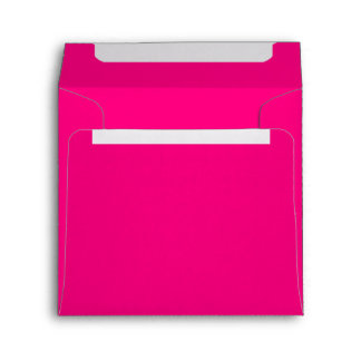 Bright Girly Hot Pink Paper Envelope