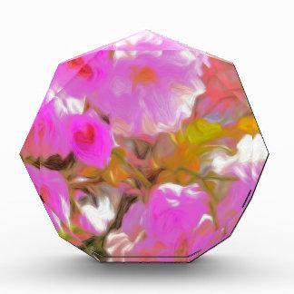 Bright Girly Neon Pink Flowers Award