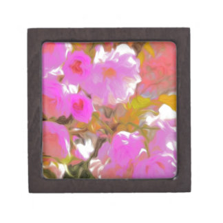 Bright Girly Neon Pink Flowers Gift Box