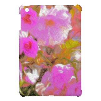 Bright Girly Neon Pink Flowers iPad Mini Covers