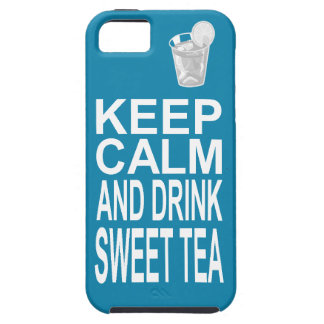 Bright Girly Southern Sweet Tea Keep Calm iPhone SE/5/5s Case
