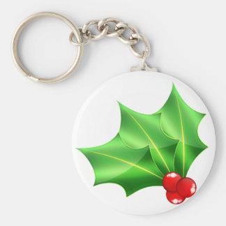 Bright_glass_hollies Basic Round Button Keychain