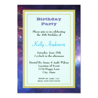Bright Glowing Galaxy in Outer Space Card