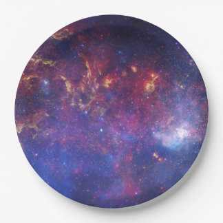 Bright Glowing Galaxy in Outer Space Paper Plate