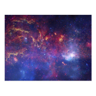 Bright Glowing Galaxy in Outer Space Postcard