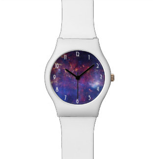 Bright Glowing Galaxy in Outer Space Wristwatch