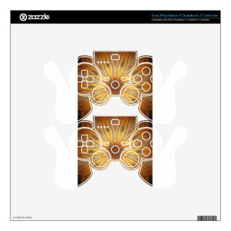 Bright Gold Ancient Mandala Design Decal For PS3 Controller