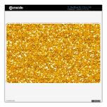 Bright Gold Glitter MacBook AIr Skin