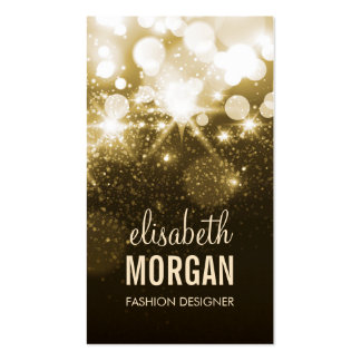 Bright Gold Glitter Sparkle Bokeh Double-Sided Standard Business Cards (Pack Of 100)