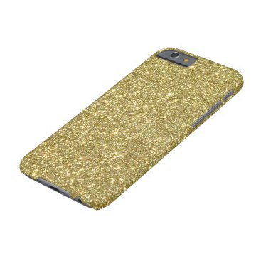 McTiffany Tiffany Aqua Bright Gold Glitter Sparkles Barely There iPhone 6 Case