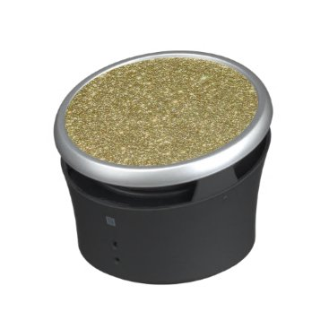 Beach Themed Bright Gold Glitter Sparkles Bluetooth Speaker