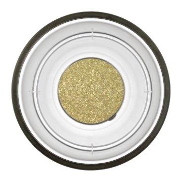 Beach Themed Bright Gold Glitter Sparkles Bowl