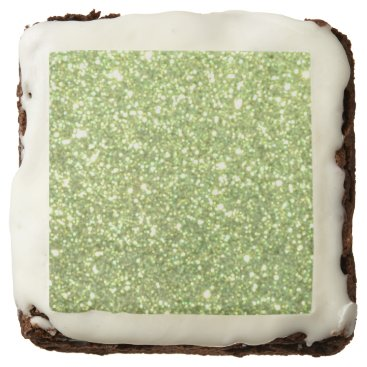 Beach Themed Bright Gold Glitter Sparkles Brownie