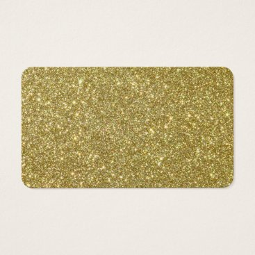 Valentines Themed Bright Gold Glitter Sparkles Business Card
