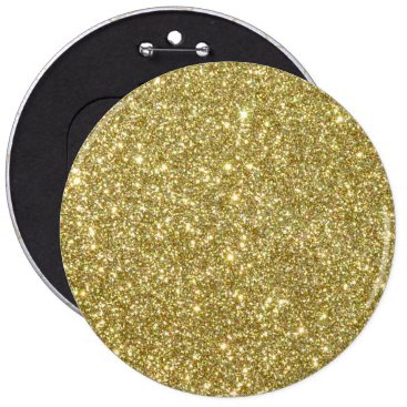 Beach Themed Bright Gold Glitter Sparkles Button