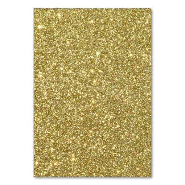 Bright Gold Glitter Sparkles Card