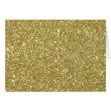 Beach Themed Bright Gold Glitter Sparkles Card