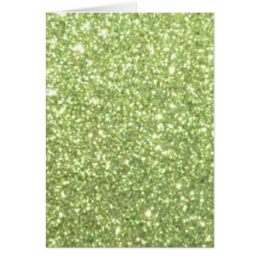Beach Themed Bright Gold Glitter Sparkles Card
