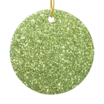 Halloween Themed Bright Gold Glitter Sparkles Ceramic Ornament