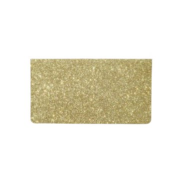 Beach Themed Bright Gold Glitter Sparkles Checkbook Cover