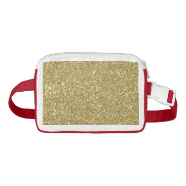 Beach Themed Bright Gold Glitter Sparkles Fanny Pack