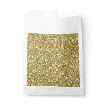 Beach Themed Bright Gold Glitter Sparkles Favor Bag